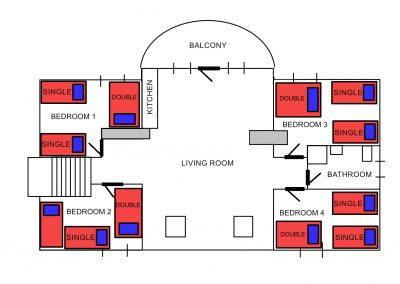Plan domu 1 P